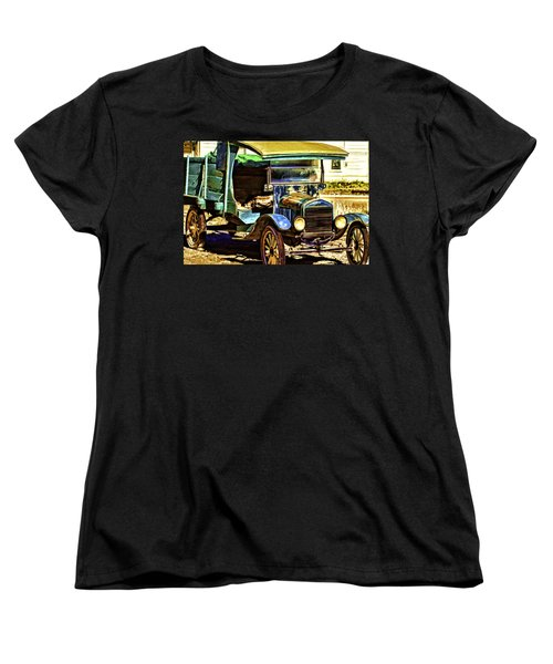 Women's T-Shirt (Standard Cut) featuring the painting Ford by Muhie Kanawati