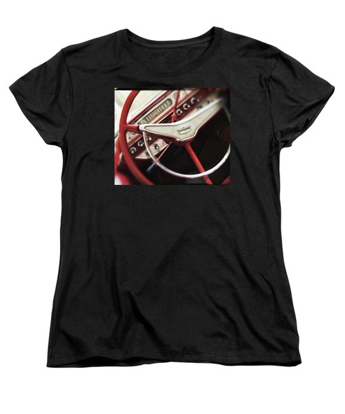 Women's T-Shirt (Standard Cut) featuring the photograph Ford Sunliner by Bradley R Youngberg