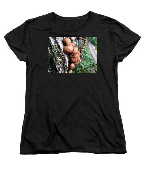 Forest Shrooms Women's T-Shirt (Standard Cut) by Lon Casler Bixby