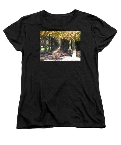 Fountainebleau - Under The Trees Women's T-Shirt (Standard Cut) by HEVi FineArt