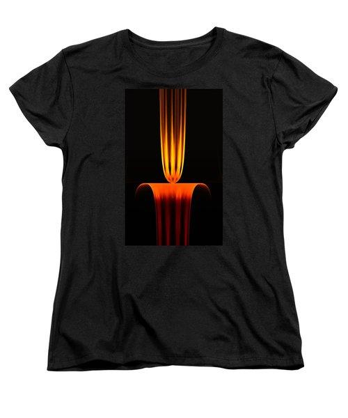 Women's T-Shirt (Standard Cut) featuring the digital art Fractal Flame by GJ Blackman