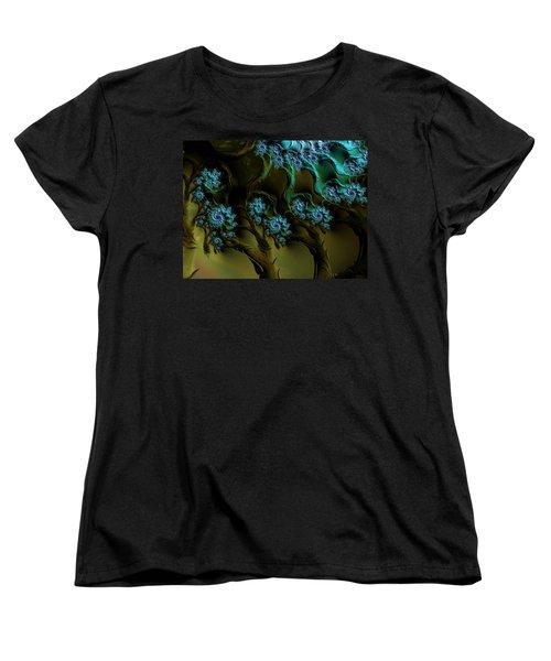 Fractal Forest Women's T-Shirt (Standard Cut) by GJ Blackman