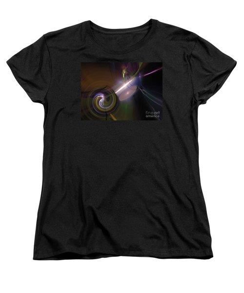 Women's T-Shirt (Standard Cut) featuring the digital art Fractal Multi Color by Henrik Lehnerer