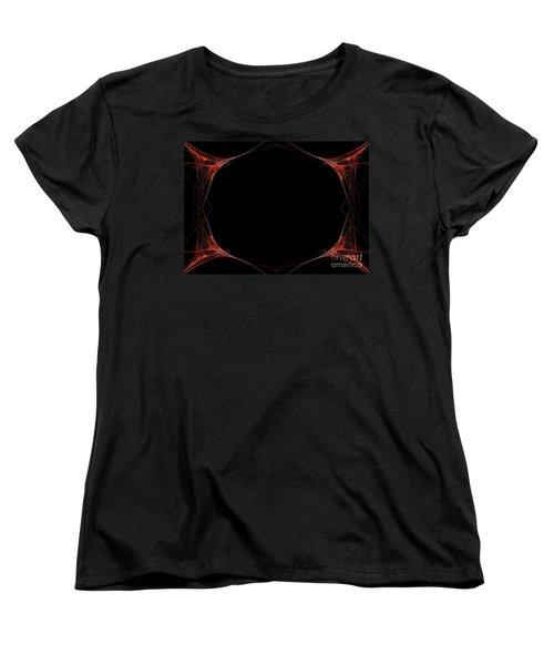 Women's T-Shirt (Standard Cut) featuring the digital art Fractal Red Frame by Henrik Lehnerer