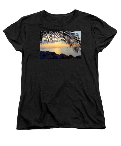 Framed By Fronds Women's T-Shirt (Standard Cut) by Anne Mott