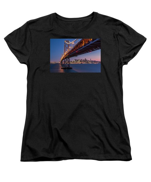 Framing San Francisco Women's T-Shirt (Standard Cut) by Mihai Andritoiu