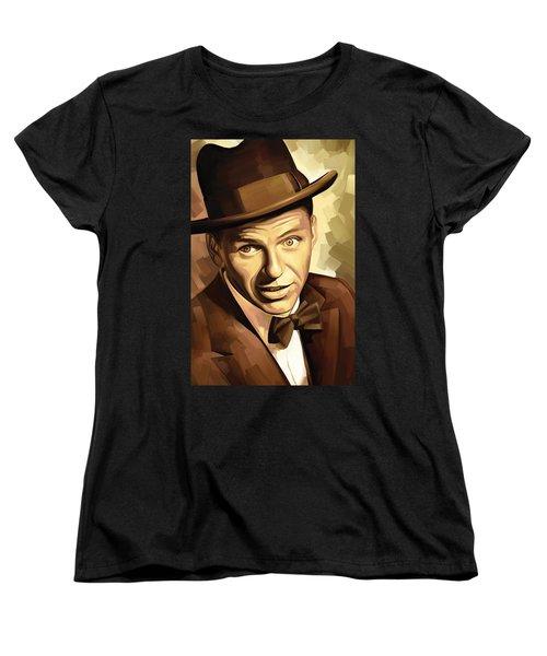 Frank Sinatra Artwork 2 Women's T-Shirt (Standard Cut) by Sheraz A