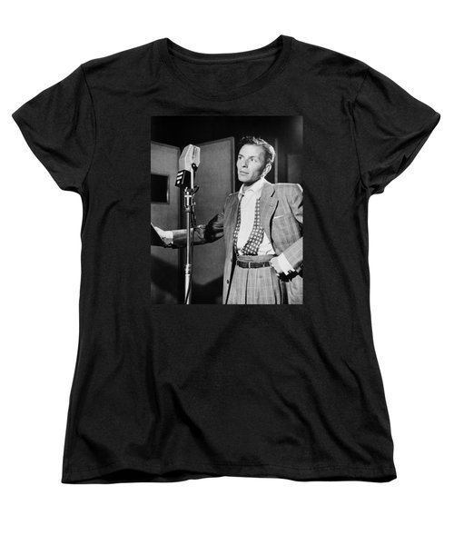 Frank Sinatra Women's T-Shirt (Standard Cut) by Mountain Dreams