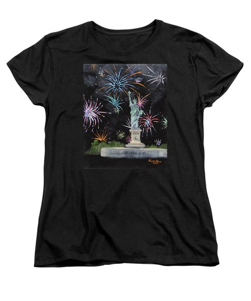Women's T-Shirt (Standard Cut) featuring the painting Freedom by Judith Rhue