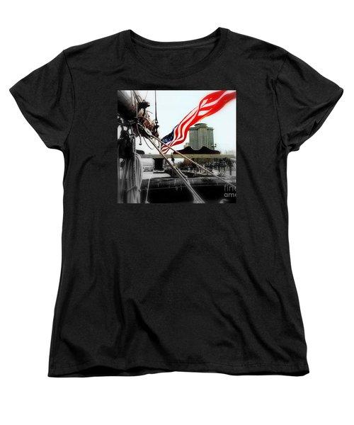 Freedom Sails Women's T-Shirt (Standard Cut) by Michael Hoard