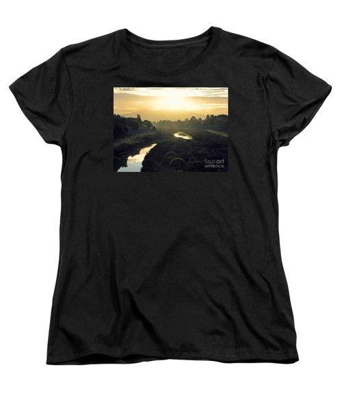 Women's T-Shirt (Standard Cut) featuring the photograph Fremont Dawn by Ellen Cotton
