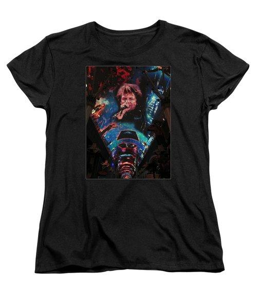 Fremont Street Experience Women's T-Shirt (Standard Cut) by Kay Novy