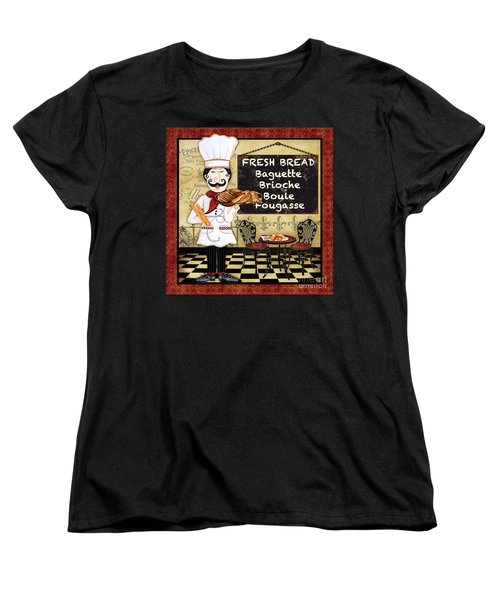 French Chef-a Women's T-Shirt (Standard Cut) by Jean Plout