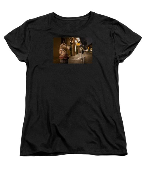 Women's T-Shirt (Standard Cut) featuring the photograph French Quarter Hitching Post by Tim Stanley