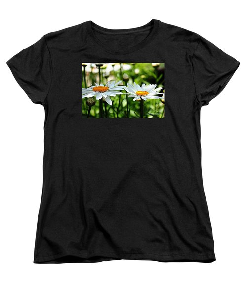 Women's T-Shirt (Standard Cut) featuring the photograph Fresh As A Daisy by Judy Palkimas