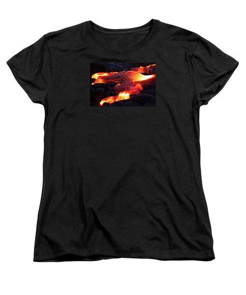 Fresh Lava Flow Women's T-Shirt (Standard Cut) by Venetia Featherstone-Witty