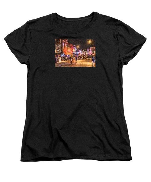 Friday Night On Beale Women's T-Shirt (Standard Cut) by Liz Leyden