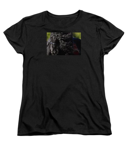 Friesian Beauty Women's T-Shirt (Standard Cut) by Wes and Dotty Weber