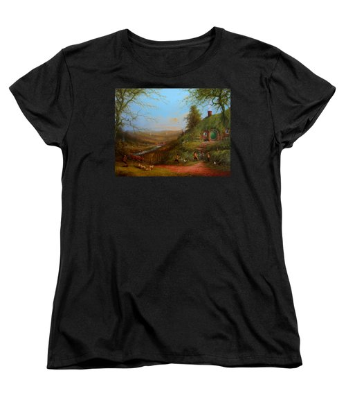 Frodo's Inheritance Bag End Women's T-Shirt (Standard Cut) by Joe  Gilronan