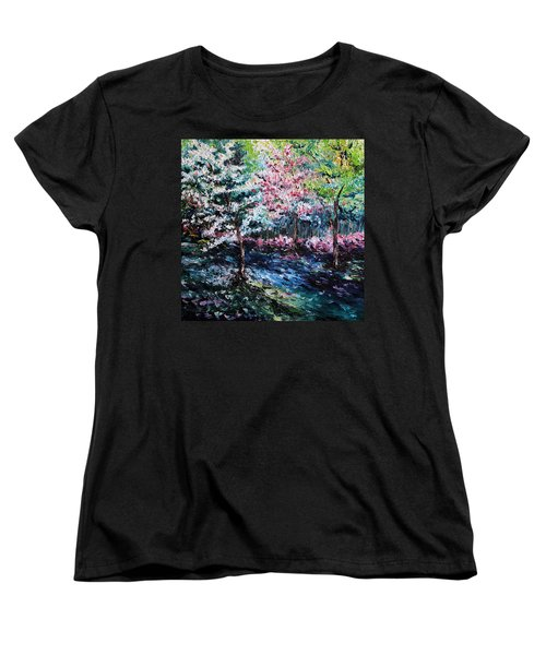 Women's T-Shirt (Standard Cut) featuring the painting From The Earth by Meaghan Troup