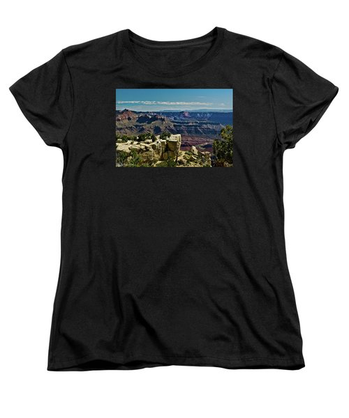 Women's T-Shirt (Standard Cut) featuring the photograph From Yaki Point 2 Grand Canyon by Bob and Nadine Johnston