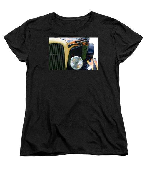 Women's T-Shirt (Standard Cut) featuring the photograph Front Of Hot Rod Car by Gunter Nezhoda