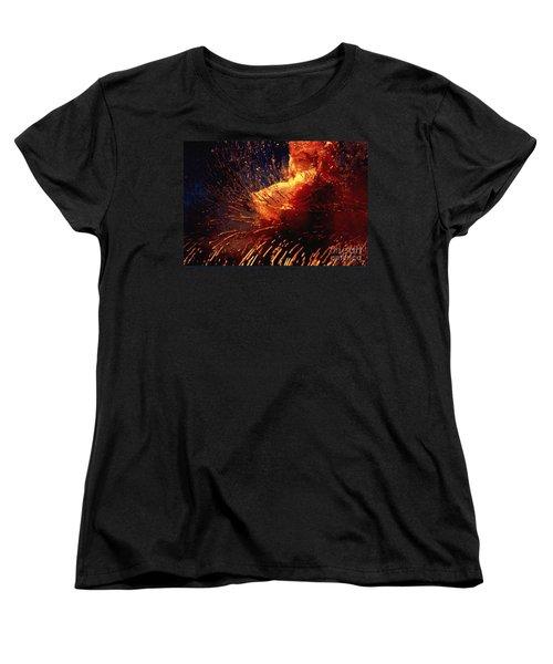 Women's T-Shirt (Standard Cut) featuring the photograph Frozen Carnation by Randi Grace Nilsberg