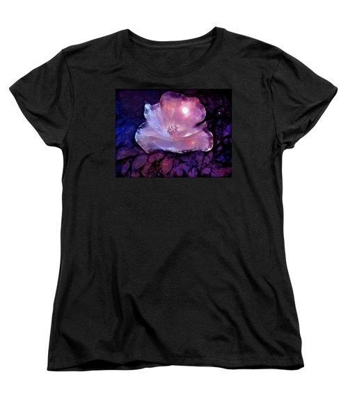 Frozen Rose Women's T-Shirt (Standard Cut) by Lilia D