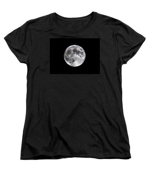Women's T-Shirt (Standard Cut) featuring the photograph Full Moon by Aaron Berg