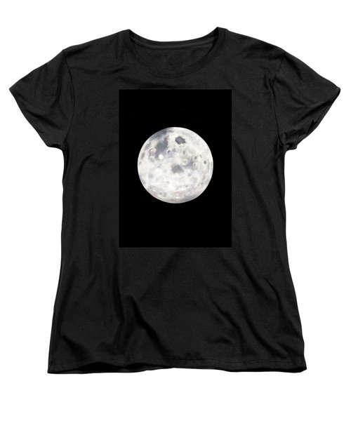 Full Moon In Black Night Women's T-Shirt (Standard Cut)