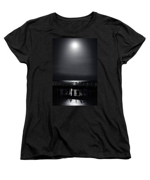 Full Moon Over Bramble Bay Women's T-Shirt (Standard Cut) by Peta Thames