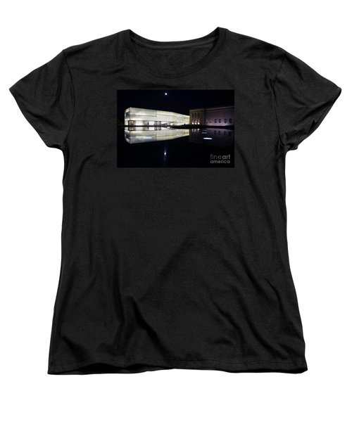 Full Moon Over Nelson Atkins Museum In Kansas City Women's T-Shirt (Standard Cut) by Catherine Sherman