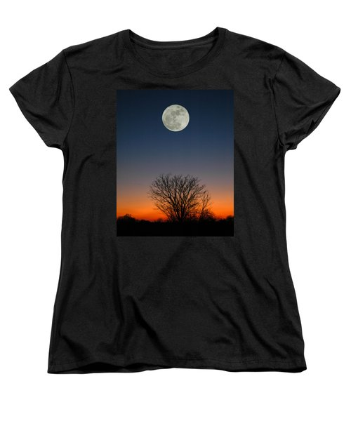 Women's T-Shirt (Standard Cut) featuring the photograph Full Moon Rising by Raymond Salani III