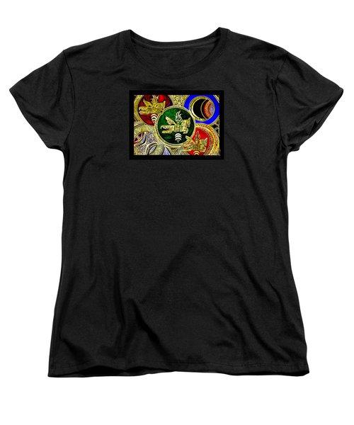 Galactic Windhorses Women's T-Shirt (Standard Cut) by Susanne Still