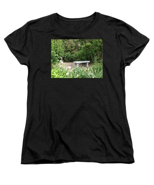 Garden Bench Women's T-Shirt (Standard Cut) by Pema Hou