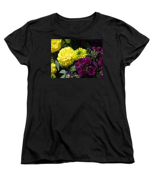 Garden Contrast Women's T-Shirt (Standard Cut) by Fortunate Findings Shirley Dickerson