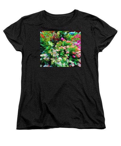 Garden Explosion Women's T-Shirt (Standard Cut) by Alys Caviness-Gober