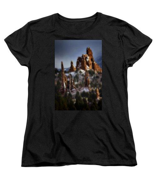 Women's T-Shirt (Standard Cut) featuring the photograph Garden Of The Gods by Ellen Heaverlo