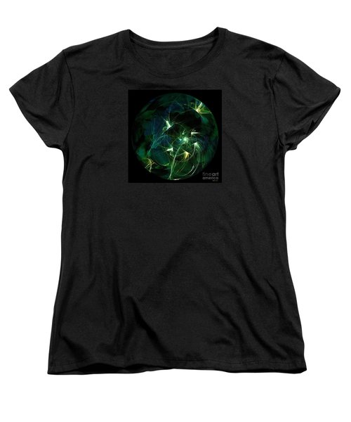 Garden Sprites Come At Night Women's T-Shirt (Standard Cut) by Elizabeth McTaggart