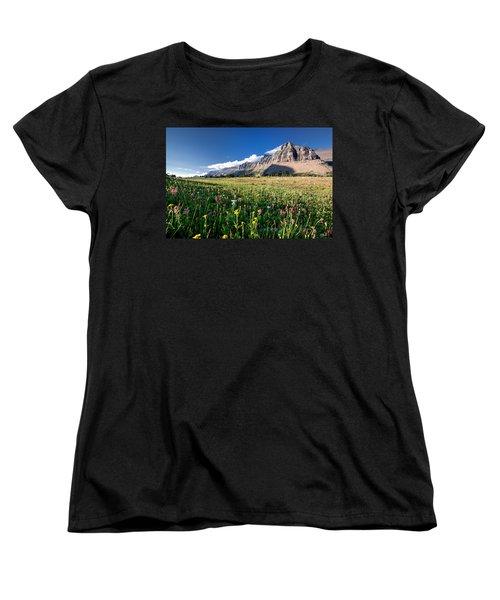 Garden Wall At Dusk Women's T-Shirt (Standard Cut) by Aaron Aldrich