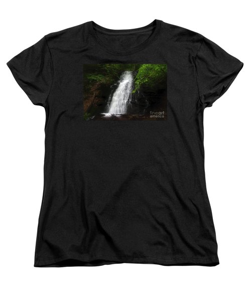 Women's T-Shirt (Standard Cut) featuring the photograph Garvey Spring Falls by Debra Fedchin