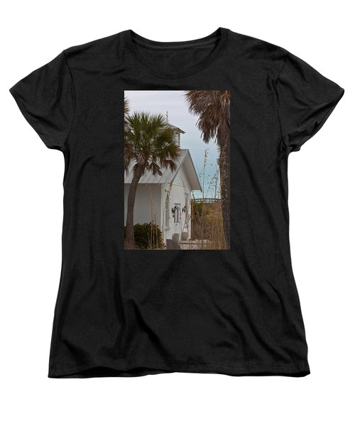 Women's T-Shirt (Standard Cut) featuring the photograph Gasparilla Island State Park Chapel by Ed Gleichman