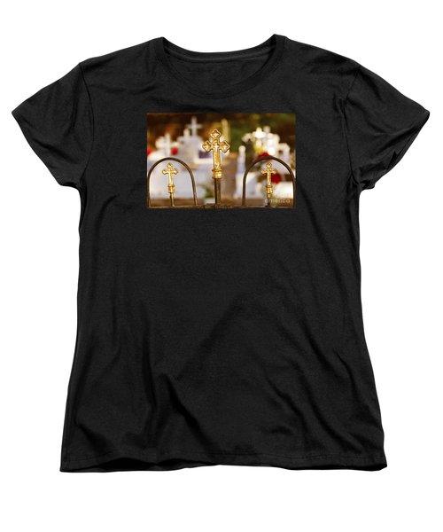 Women's T-Shirt (Standard Cut) featuring the photograph Louisiana Cemetery by Luana K Perez