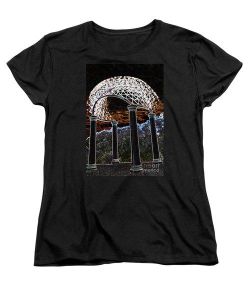Women's T-Shirt (Standard Cut) featuring the photograph Gazebo 1 by Minnie Lippiatt