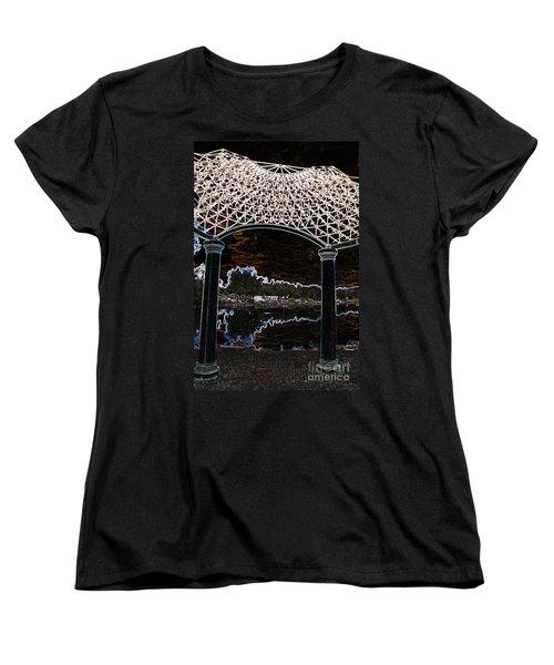 Women's T-Shirt (Standard Cut) featuring the photograph Gazebo 2 by Minnie Lippiatt
