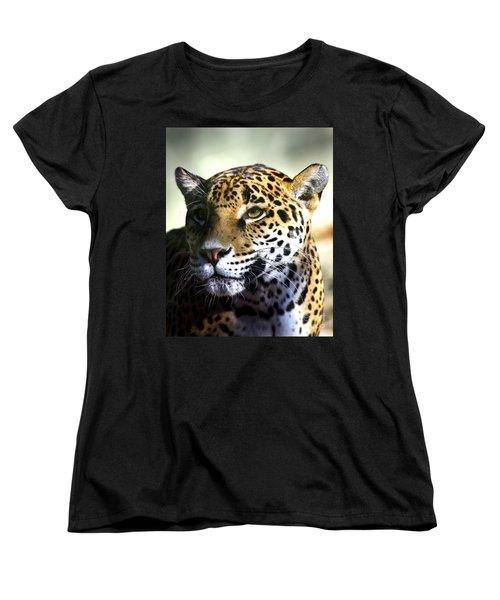 Gazing Jaguar Women's T-Shirt (Standard Cut) by Liz Masoner