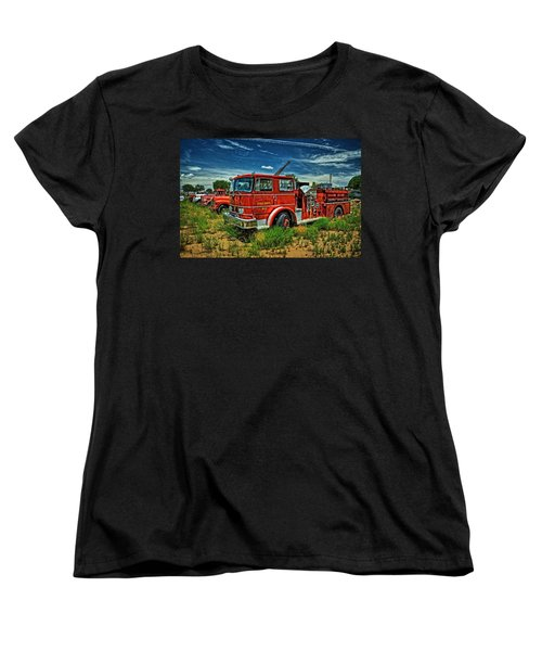 Women's T-Shirt (Standard Cut) featuring the photograph Generations Of Fire Fighting Equipment by Ken Smith