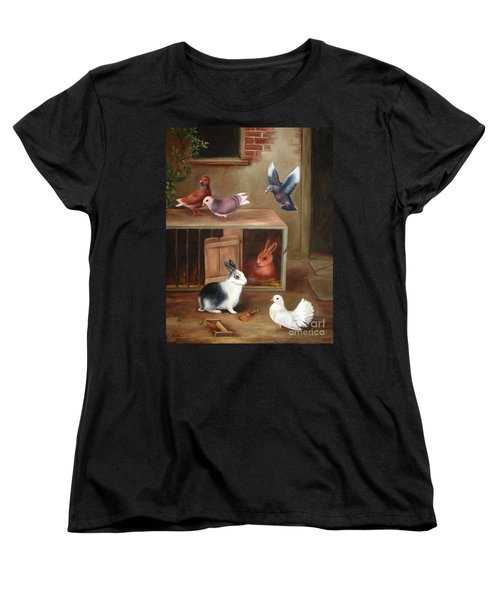 Women's T-Shirt (Standard Cut) featuring the painting Gentle Creatures by Hazel Holland