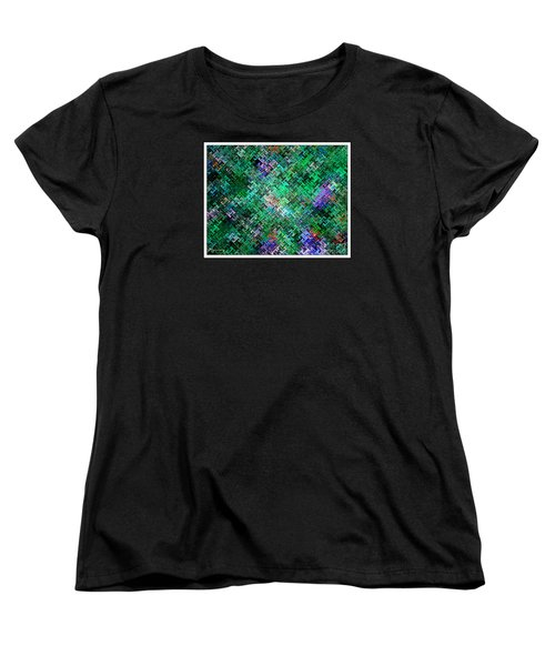 Women's T-Shirt (Standard Cut) featuring the digital art Geometric Abstract by Mariarosa Rockefeller
