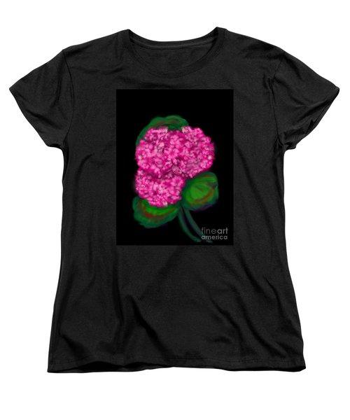 Women's T-Shirt (Standard Cut) featuring the digital art Geranium by Christine Fournier